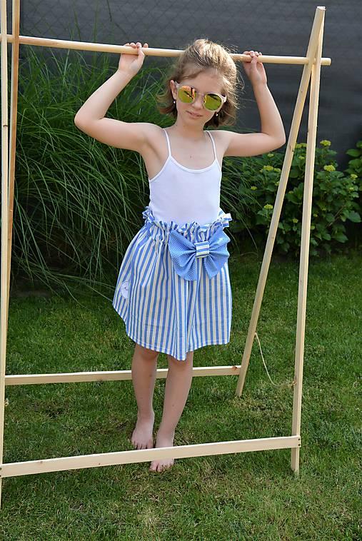 Dievčenská sukňa Nica s mašľou