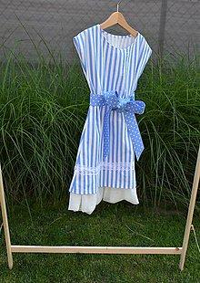Detské oblečenie - Dievčenské letné šaty Nica s mašľou a tylom - 10803526_