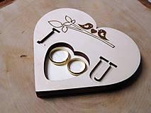 Prstene - vintage svadba/vankúšik pod svadobné prstene XXXI - 10803347_