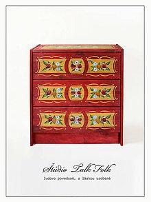 """Nábytok - Ručne maľovaná komoda """"Zemianská"""" (pôvdná cena 247 Eur) - 10805861_"""