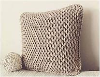 Úžitkový textil - Vankúš Nordic Day svetlý karamel - 10803539_