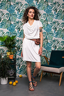 Šaty - Šaty White Orchis - 10804417_