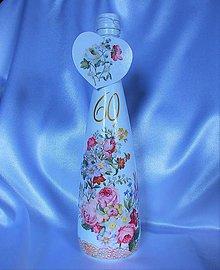 Nádoby - Darčeková fľaša Marienkine ružičky - 10805473_