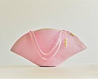 Veľké tašky - Velká pudrová plážovka s výšivkou 1990 - 10804581_