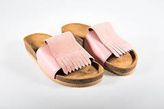 Obuv - Korkáče Pink velur - 10803150_