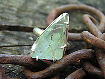 Prstene - Strieborny prsteň Ag925 Akvamarín - 10803523_