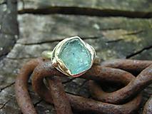 Prstene - Strieborny prsteň Ag925 Akvamarín - 10803594_