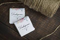 """Darčeky pre svadobčanov - Čokoládka """"Ružové kvietky"""" - 10805433_"""