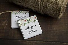 """Darčeky pre svadobčanov - Čokoládka """"Krémové kvietky"""" - 10805436_"""