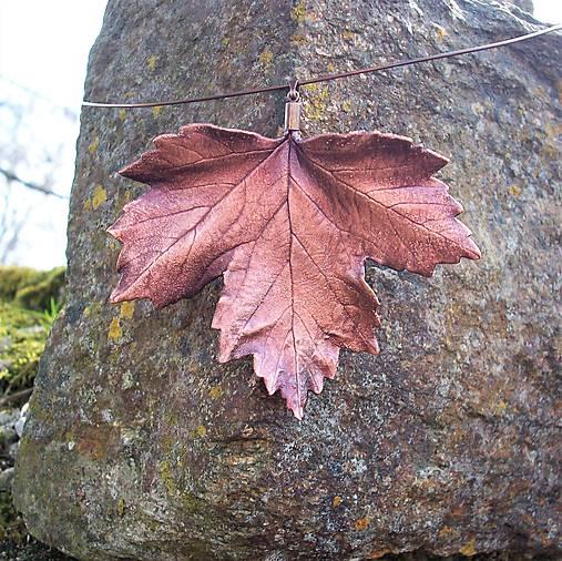 Pokovený list javoru na obruči