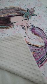 Textil - Detská deka s minky - morská panna - 10804173_