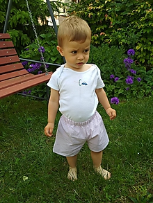 Detské oblečenie - Hnedé kraťasky - 10804621_