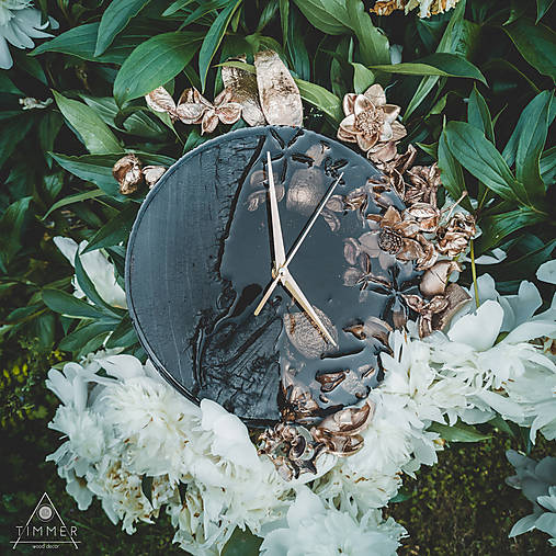 Luxury Garden - Živicové drevené hodiny