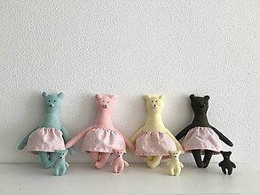 Hračky - Roztomila medvedica s babatkom :) - 10804689_