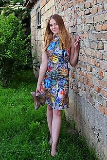 Šaty - Kvetinové letné šaty - 10804021_