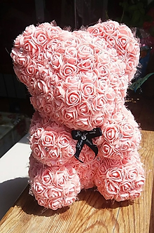 Dekorácie - Macko z ruží - 10804018_