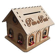 Krabičky - Exkluzívny svadobný domček na peniaze a blahoželania - 10804878_