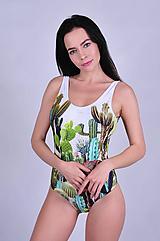 Bielizeň/Plavky - Cactus garden jednodielne plavky - 10804435_