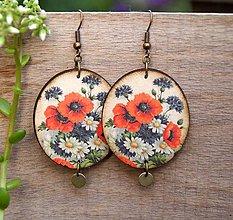Náušnice - Lúčne kvety - 10805912_