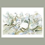 Obrazy - Shromáždění - originál, velký akvarel - 10804750_