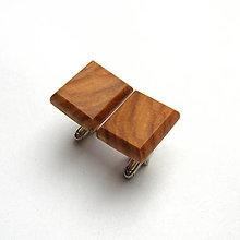 Šperky - Drevené manžetové gombíky - olivovníkové obdĺžniky - 10804985_