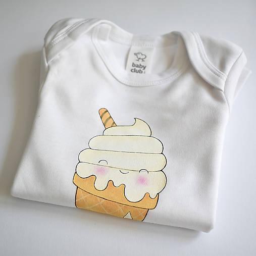 Detské oblečenie - Body zmrzlina - 10807200_