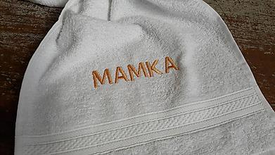 Úžitkový textil - uteráčik s výšivkou - MAMKA - 10807747_