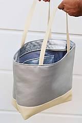Veľké tašky - Ala (taška) strieborná -20% - 10806126_