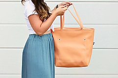 Veľké tašky - Ala (taška) marhuľová -20% - 10806137_