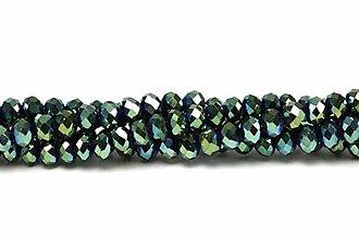 Korálky - Rondelka sklenena brusena 8mm (Zelená) - 10806888_