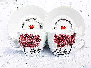 Nádoby - Šálky pre novomanželov - plné lásky - 10808123_