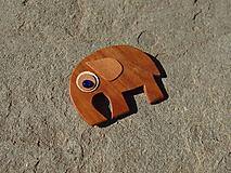 Odznaky/Brošne - Drevená brošňa - 10806728_