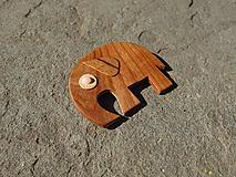 Odznaky/Brošne - Drevená brošňa - 10806753_