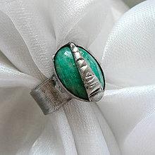 Prstene - Prsteň s amazonitom ☼ ODILE ☼ - 10807898_