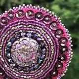 Odznaky/Brošne - Brož růžová květina no.3 - 10806305_
