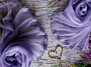 Šály - Jemné chvění - fialkový set pro mamku a dcerku - 10806258_