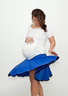 Tehotenské/Na dojčenie - Tehotenská kolová sukňa - 299 farebných kombinácií - 10806078_