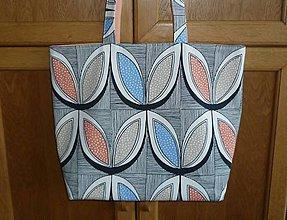 Veľké tašky - Taška veľká (podšívka marhuľová jednofarebná) - 10807800_