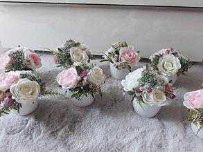 Dekorácie - Svadobná kvetinová výzdoba - 10806220_