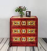 """Nábytok - Ručne maľovaná komoda """"Zemianská"""" (pôvdná cena 247 Eur) - 10806222_"""