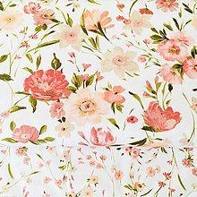 Textil - veľká ružová lúka, 100 % predzrážaná balvna Španielsko, digitálna tlač, šírka 150 cm - 10807775_