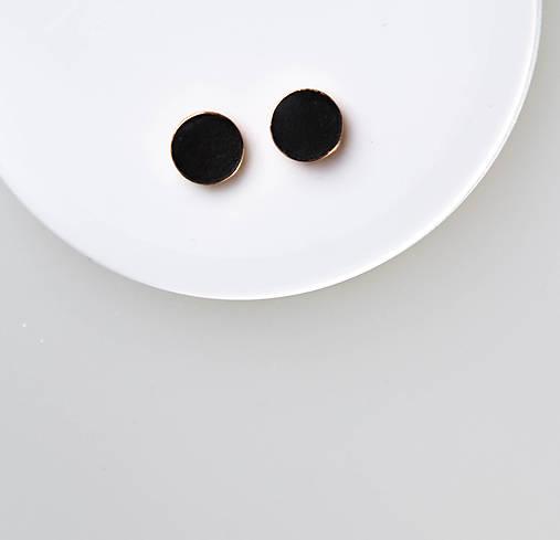Náušnice - ORDINARY - betónové náušnice (čierna) - 10806594_