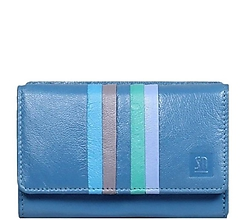 Peňaženky - Dámská modrá kožená peněženka - 10807287_