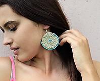 Náušnice - Egyptské pletené náušnice (Modrá) - 10806850_