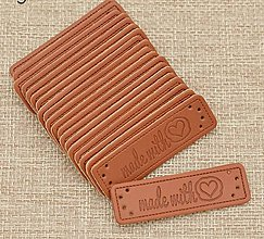 Galantéria - NT114 Nášivka made with love 5,1 x 1,5 cm - 10807763_