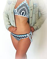 Bielizeň/Plavky - Hačkované plavky s farebnými gumičkami Dyona - 10807066_