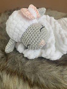 Hračky - mojkáčik - ovečka ŇuŇu - v ružovom - 10807049_
