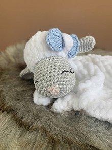 Hračky - mojkáčik - ovečka Ňuňu - v modrom - 10807472_