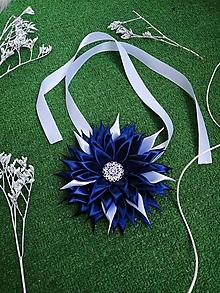 Náhrdelníky - Krásny tmavo-biely náhrdelník - 10806897_