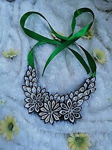 Náhrdelníky - Zelený náhrdelník - 10806919_